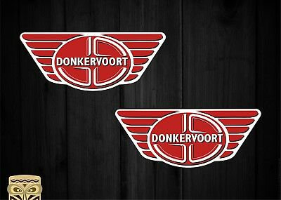 Pegatina Sticker Donkervoort Auto Logo D8 Gto Rs Racing Car X2 Laminated