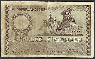 Netherlands 100 Gulden 1959 Rembrandt Florijnen Reclamegeld Advertising Money