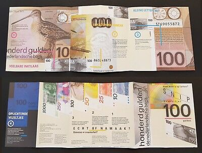 Netherlands 100 Gulden 1977 Snip Official Introducing brochure P97