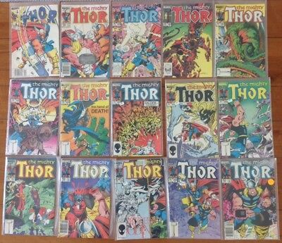 THOR 43 Comic Lot – 337 (signed) – 376 near complete with extras