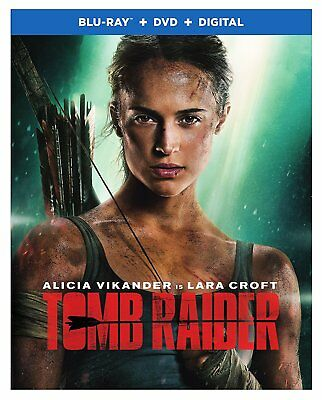 Tomb Raider (Blu-Ray + DVD + Digital) 2018 w/ SLIP COVER ***FREE SHIPPING**