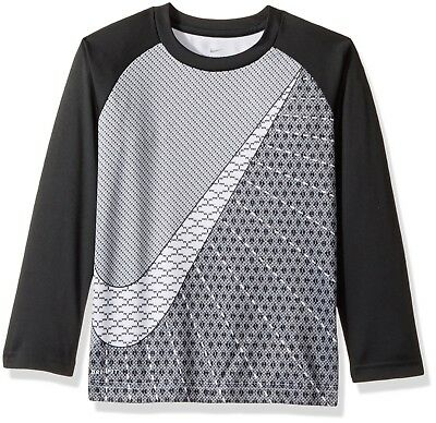 New Nike Little Boys Dri-Fit Raglan Long Sleeves Shirt Size 5 MSRP $24.00