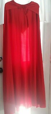 Little red riding hood cape one size adult