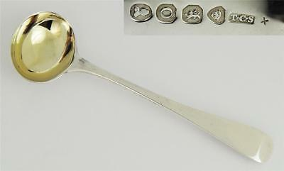 George IV STERLING SILVER MUSTARD SPOON London 1829 Gilt Bowl
