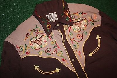 Vintage H Bar C (Embroidered Shirt) California Ranch  Country Western Rockabilly