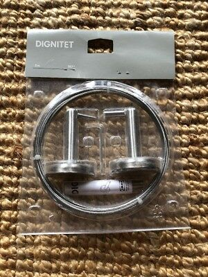Ikea Dignitet Curtain Hanging Kit Wire 197 Stainless Steel Nip New Sealed