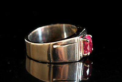 Beautiful Gemstone, Natural Ruby Ring Crafted 925 Sterling Silver Ring,