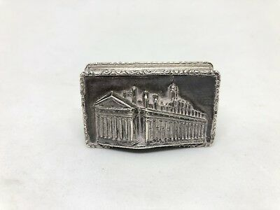 Rare Silver Vinaigrette Royal Exchange Fully Stamped Fantastic Condition