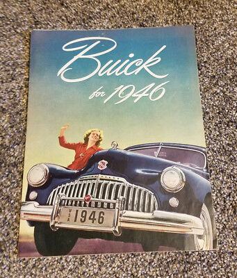 Buick For 1946 Car Pamphlet Booklet