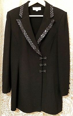 St John Evening by Marie Black Cocktail Suit Size 10