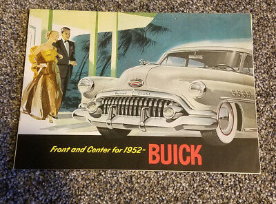 Front And Center For 1952 Buick Car Pamphlet Booklet