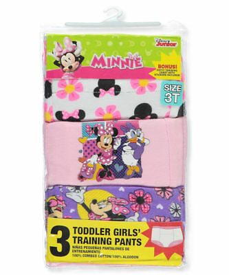Minnie Mouse Toddler Girls' Training Pants, 3 Pack 3T