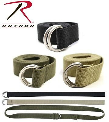 Web Belt Military Cotton D-Ring Expedition Belt All purpose Rothco 4174 4275