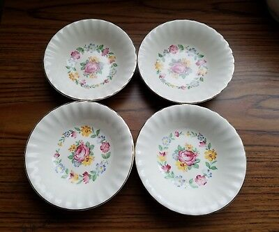Edwin M. Knowles Set Of 4 Fruit/dessert/sauce Bowls. Kno40. Circa 1948.  Flaw