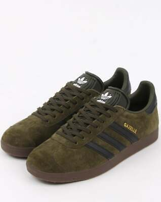 Adidas Originals Mens Gazelle Fashion Trainers Green Black BNIBWT Sizes UK 5 -11