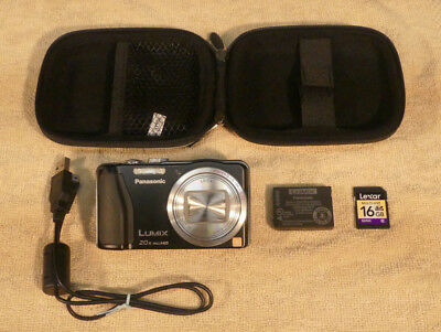 Panasonic Lumix DMC-ZS-19 Pocketable 20x Zoom with Hard Case and 16GB SD Card