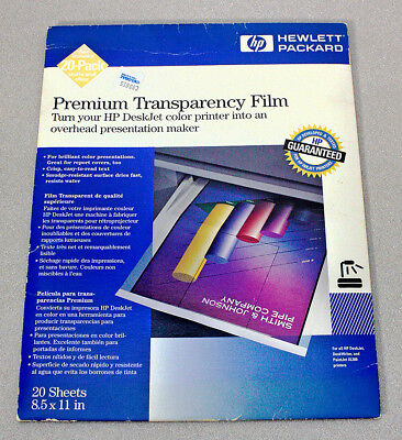 Hewlett Packard Premium Transparency Film – Ink Jet