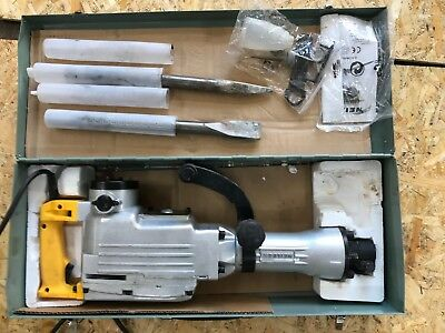 concrete breaker with metal carry case - only used a couple of times