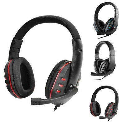 3.5mm Gaming Headset Microfono Micolindun Over-Ear Cuffie Gamer per PS4 e8a618f197b9