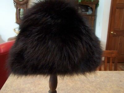Vintage Estate Sale Ladies Black Fur Hat - Juli Kay Chicago