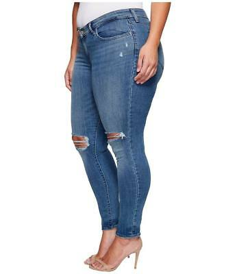 Levis Womens 711 Skinny Plus Altered Destroyed Denim Jeans Tag Size 24W M