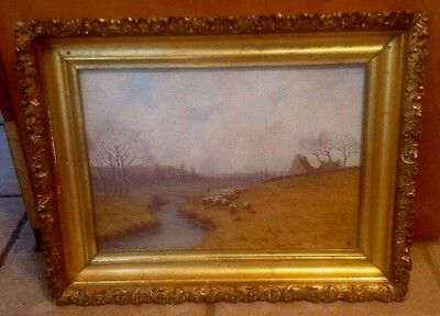 Oil On Board By Hiram Peabody Flagg Massachusetts, New York Artist