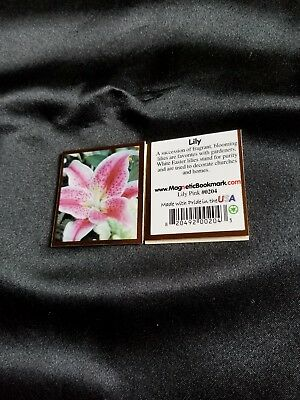 Magnetic Bookmarks Lily Pink