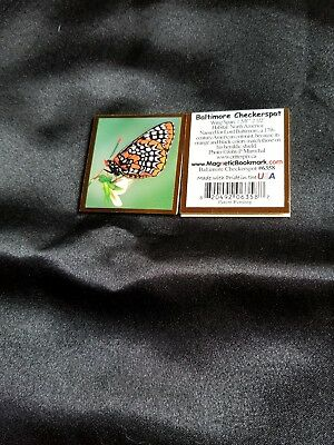 Magnetic Bookmarks Baltimore Checkerspot Butterfly
