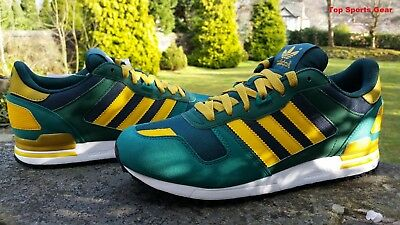Adidas Originals Boys  ZX 700 Retro Running Trainers Green & Gold BNIBWT UK 5