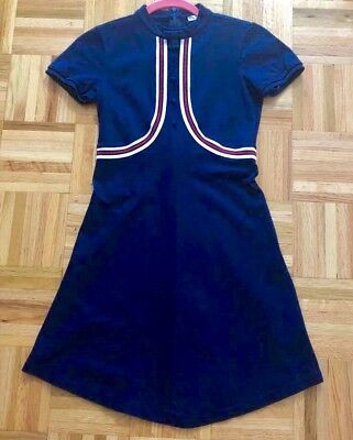 100% AUTH Gucci girl's SIGNATURE Trim Accented Cotton dress IT 12 Years