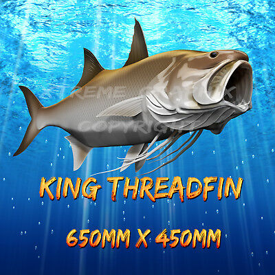 King Threadfin  Decal Left&right 650Mm X 450Mm  Boat / Car / Truck
