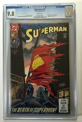 "Superman #75 CGC 9.8 DC 1993 ""Death of Superman"" White Pages!"