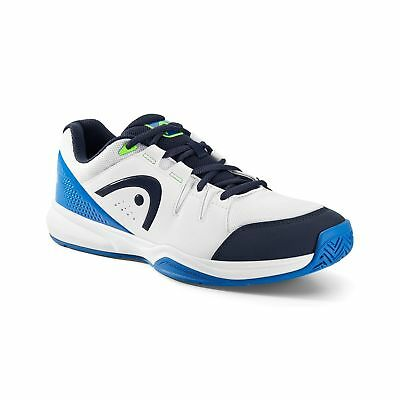 HEAD Unisex Adults' Grid Multisport Indoor Shoes White (White/Blue) 9 UK