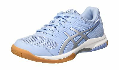 Asics Womens Gel-Rocket 8 Volleyball Shoes Blue (Airy Blue/Silver/White 3993)