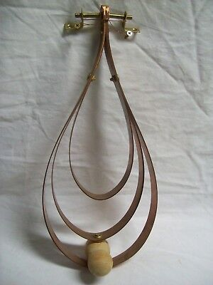 """Large Hand Made One of a Kind Art Deco Copper & Wood Door Knocker 15"""" Tall"""