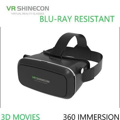 VR Shinecon G01 Plus 3D Blu-Ray Resistant Panorama Virtual Reality Glasses, Wide