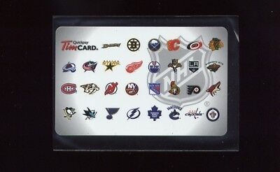 2012 NHL 30 Team Logos Tim Hortons Gift Card !!