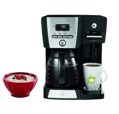 Coffee Maker and Hot Water Station Programmable 12-Cup Home Office Digital Brew