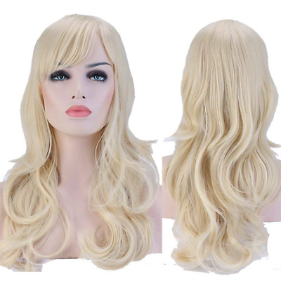 S-noilite® 19Inch Women Long Curly Full Head Wigs Cosplay Costume Party Fancy Dr