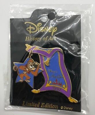 Disney Japan Pin History of Art Aladdin Abu Genie Carpet LE Free shipping