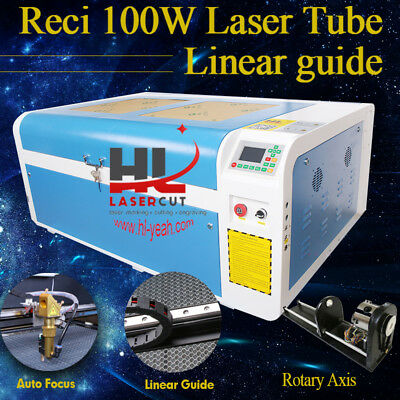 Auto focus  DSP Reci 100W Laser CO2 Engraving Cutting Machine CW5000 USB