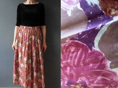 70s 80s Pleated Floral Skirt Small 3+items for FREE Postage