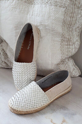 Marc O'Polo Ballerina Sommerschuhe Loafers Espadrilles beige weiß 40