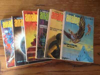 Analog sf - 6 Science Fiction mags