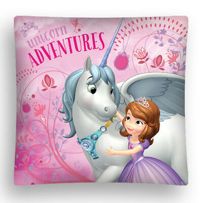 DISNEY PRINCESS Sofia The First Unicorn Adventures cushion cover 40x40cm pink