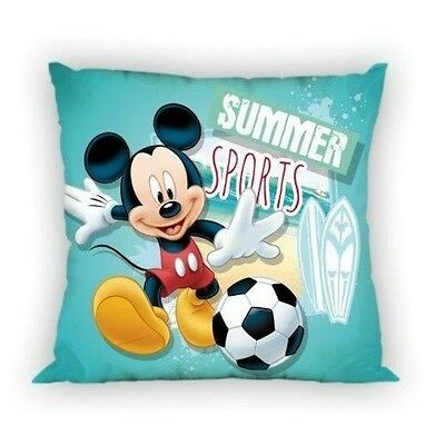NEW LICENSED DISNEY MICKEY MOUSE Summer Sports cushion cover 40x40cm 100% cotton