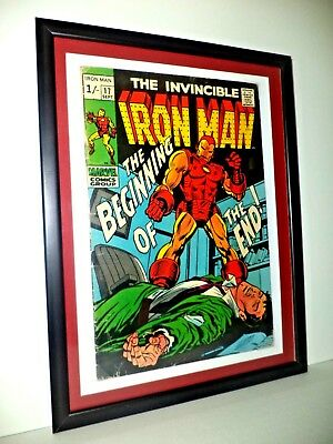 THE INVINCIBLE IRON MAN # 17 Sept 1969 Vol 1 MARVEL MOUNTED FRAMED READY TO HANG