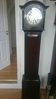 Vintage grandmother clock circa 1920 GWO.  Westminster chimes, Fontenoy movement