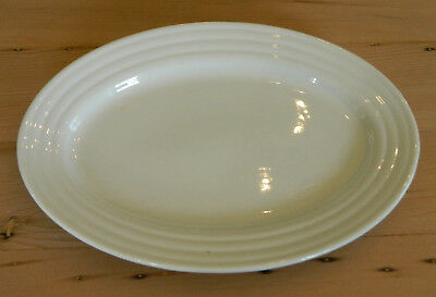 "Iroquois China Ripple Ware 12"" Oval Plate Platter Restaurant China"