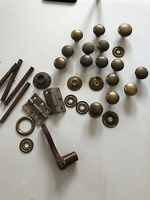 15 antique/ vintage  brass knobs- heavy job lot
